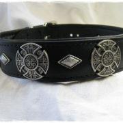 Hundehalsband Black Celtic Cross