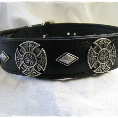 Hundehalsband Black Celtic Cross