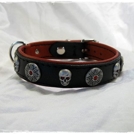 Hundehalsband Red Skull
