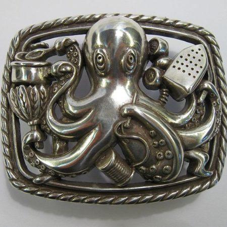 Buckle/Gürtelschnalle Octopus