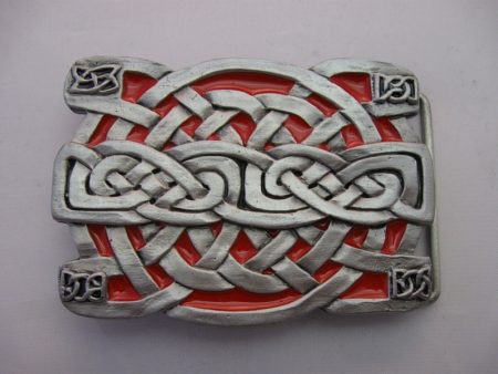 Buckle keltischer Knoten rot