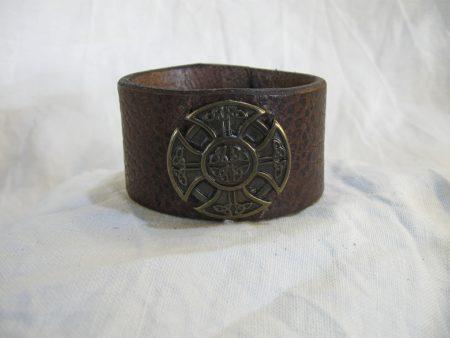 Lederarmband Celtic Cross