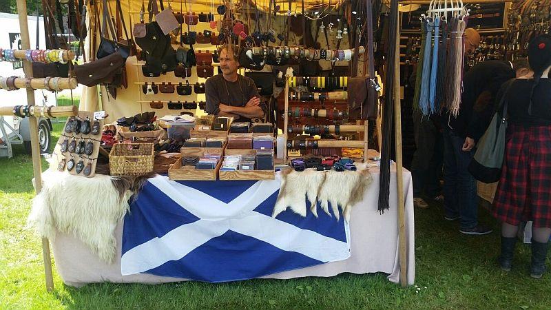 Mc Evans Lederwaren mit Sporran beim Highland Katherine 2018