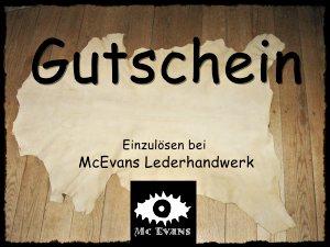Gutscheine-MC Evans Lederhandwerk
